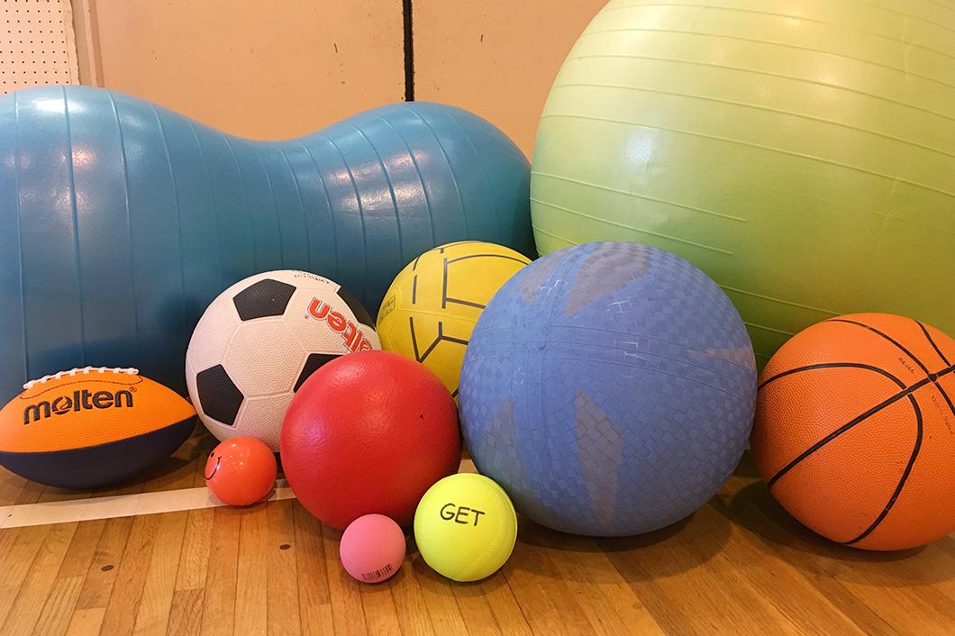 いろんなボールで運動能力向上教室